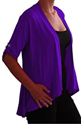 Emily Womens Open Casual Jersey Cardi Ladies Plus Size Cardigan US 16