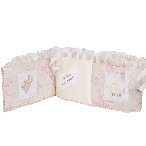 Cotton Tale Designs Heaven Sent Bumper, Pink/Cream - 1