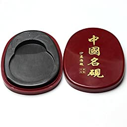 High Grade Chinese Calligraphy Brush Sumi Pens Duan Yan Inkstone Inkslab Ink Stone Chinese Calligraphy Sumi Drawing Kanji Ink Well With Cover Classical Chinese (Lnk Stone 02)