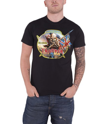 Iron Maiden Trooper Robinsons Beer Official Mens New Black T Shirt
