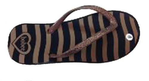 Brown Leather Flip Flops For Women front-695080