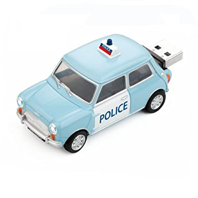 4GB POLICE PANDA Mini Cooper USB Flash Memory Drive by JellyFlash