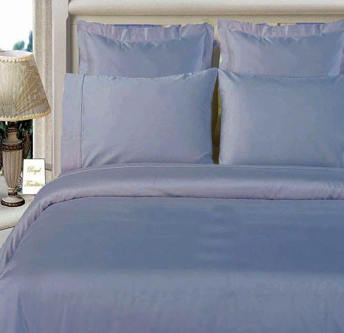 Twin Xl Extra Long 300 Thread Count 100% Egyptian Cotton (Not Microfiber Polyester) 300Tc Stripe Duvet Cover Set, Navy