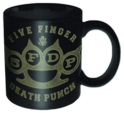 Empire Merchandising 696656Five Finger Death Punch-Brass Knuckle 5FDP tazza in ceramica, diametro 8,5cm, altezza 9,5cm