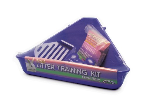 Super Pet Rabbit Litter Training Kit, Litter Pan, Colors Vary