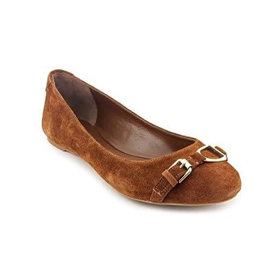ralph lauren tabitha womens brown suede ballet flats shoes 4 5 uk shoes bags. Black Bedroom Furniture Sets. Home Design Ideas