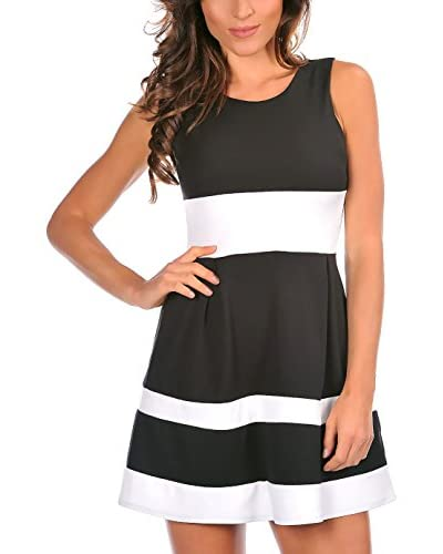 MADEMOISELLE LOLA Vestido Adeline Negro / Blanco