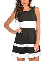 MADEMOISELLE LOLA Vestido Adeline (Negro / Blanco)