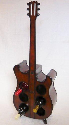 Weinregal Flaschenregal Flaschenständer E Gitarre aus Holz 102cm Nr. 1859
