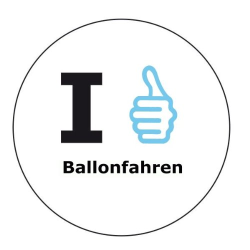 I like Ballonfahren Aufkleber - 6 cm Durchmesser