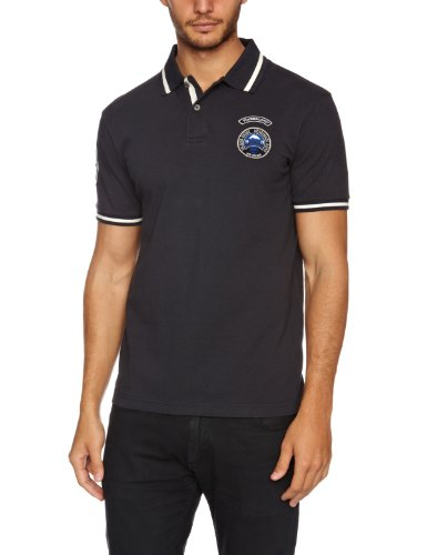 Timberland Short Sleeve Pique Polo Men's T-Shirt Dark Navy Small