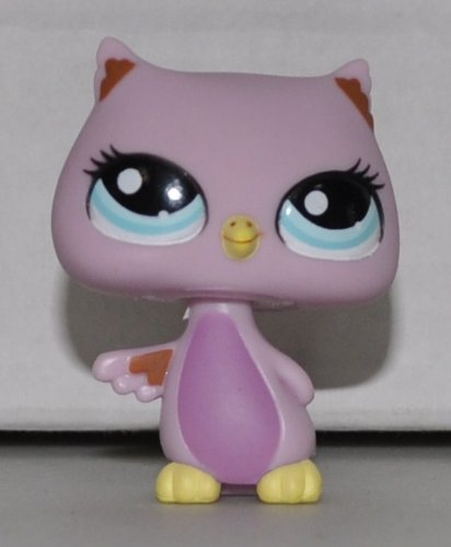 Owl #1373 - Littlest Pet Shop (Retired) Collector Toy - LPS Collectible Replacement Single Figure - Loose (OOP Out of Package & Print) - 1
