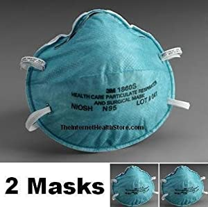 3M 1860S N95 Health Care Respirators 2-Pack (2 Small, Child Size Masks) from 3M