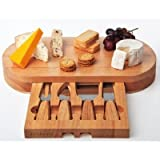Occasion square Cheese Board with the help of built in Drawer and 4 Specialist Cheese Knives