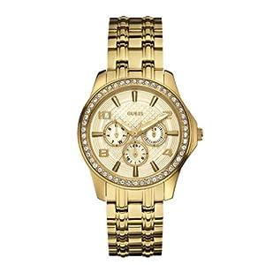 Guess W0147L2 mm Gold Tone Steel Bracelet & Case Mineral Women's Watch