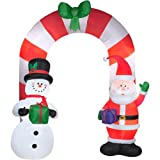 9' Santa and Snowman Archway Inflatable - Airblown Holiday Presents