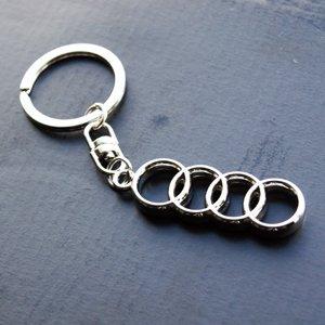 Audi Keyring Key Ring Chrome Metal 3d Car Logo In Gift Box