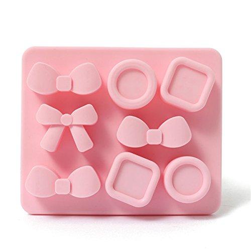 dealglad® de haute qualité en silicone en couleur bonbon 8Même avec bouton moule à gâteau Ice Cube plateau moule chocolat, Silicone, Rose, About 12*10*2cm