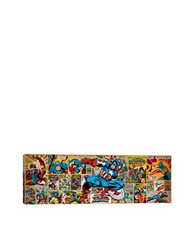 Marvel Comic Book Captain America on Covers & Panels Panoramic Gallery-Wrapped Canvas Print