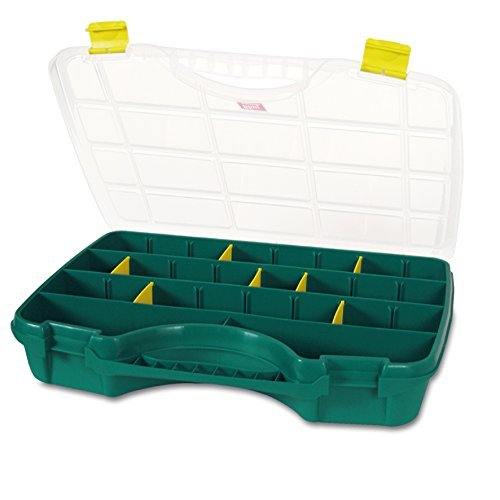 Tayg Toolbox 24-26, 460 x 350 x 81 mm - up to 26 compartments - Green/Clear, 024009 by TAYG (Tayg Toolbox compare prices)