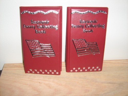 Red Souvenir Penny Collecting Book/Album (Set of 2) For Elongated Pennies