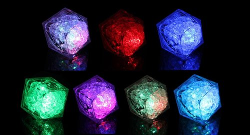 Litecubes® Flashing Led Multi-Color Freezable Ice Cube / Rocks - 1 Cube