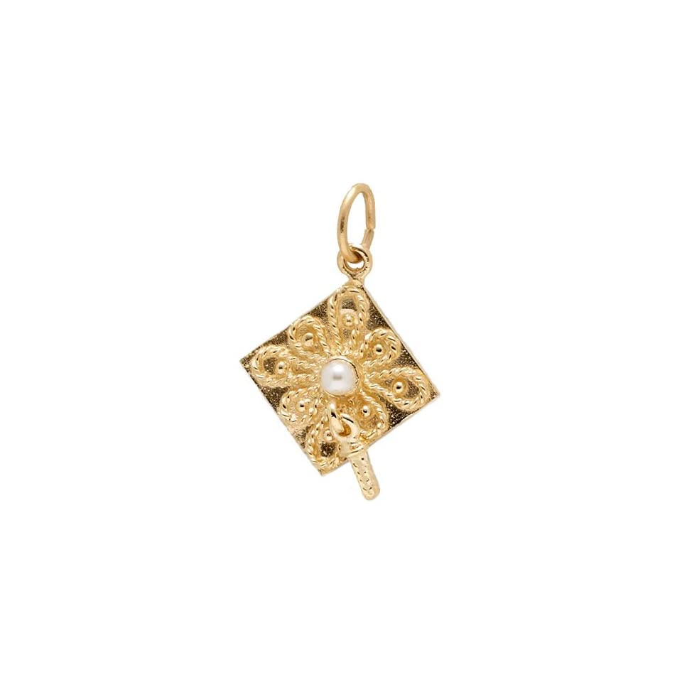 54608c812 Rembrandt Charms Graduation Cap Charm, Gold Plated Silver on PopScreen