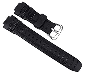 Casio watch strap watchband leather / Resin Band black for G-304RL