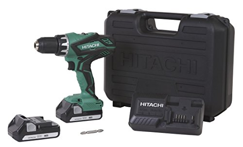 hitachi-ds18dgl-18-volt-cordless-lithium-ion-1-2-inch-compact-drill-driver-kit-lifetime-tool-warrant