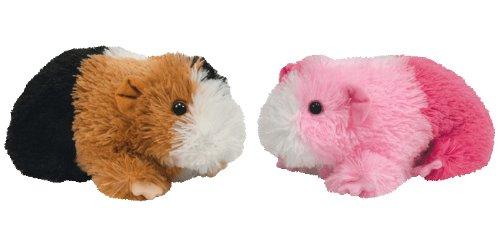 Imagen de Ty Beanie Baby - Set de 2 Dulce Conejillos de Indias - Pinky y Parches - Juguetes de peluche de colección