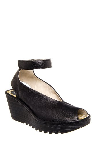 Fly London Yala Mid Heel Platform Wedge Sandal