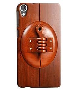 Blue Throat Wooden Lockn Printed Designer Back Cover/ Case For HTC Desire 820