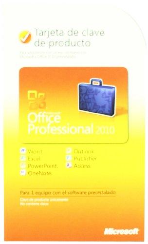 Microsoft Office Professional 2010 Key Card 1Pc/1User-Spanish