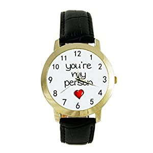 You're My Person Image Photo Custom Diy Men or Women's Fashion Leather Strap Watch