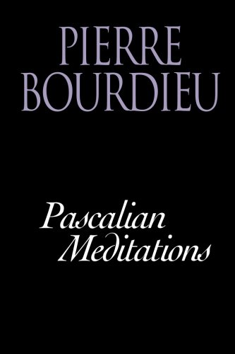 Pascalian Meditations: Pierre Bourdieu, Richard Nice: 9780804733328: Amazon.com: Books