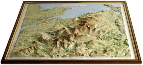 raised relief maps - Snowdonia