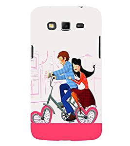 Love Couple on Cycle 3D Hard Polycarbonate Designer Back Case Cover for Samsung Galaxy Grand I9082 :: Samsung Galaxy Grand Z I9082Z