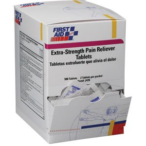 Extra Strength Pain Reliever Tablets (250 Packs of 2 Tablets)