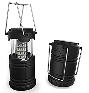 Portable LED Camping Lantern, Lemontec water resistant Ultra Bright 30 LED Lantern for Hiking, Emergencies, Hurricanes, Outages, Storms, Camping (3 AA Batteries)