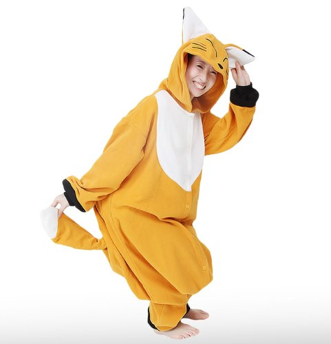 Japan Official Sazac Animals Onesie Fox Kigurumi Pajamas Fox Costume Cosplay