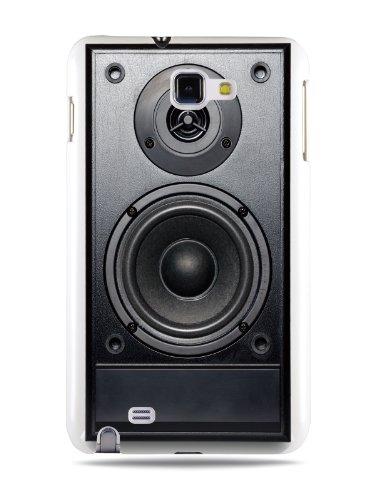 Grüv Premium Case 'Retro Vintage 80S 90S Dj Audio Speaker' Design For Samsung Galaxy Note N7000 I9220 I717 (Best Quality Designer Print On White Hard Cover)