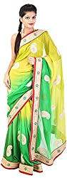 Mili Women's Chiffon Saree - (Multi-Coloured, MS-21)