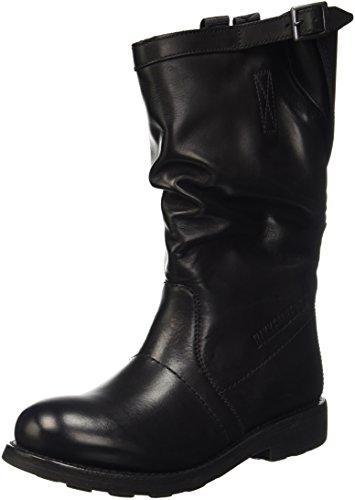 Bikkembergs Vintage 176 Mid Boot W Dyed Leat, Scarpe a Collo Alto Donna, Nero, 37 EU