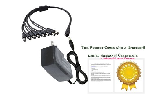 Upbright® Ac Adapter + 8 Plug Splitter For Snark Sa-1 9V Power Supply & 3 Sa-2 Daisy Chains--Sa1 & 3 Sa2S For Guitar Pedals