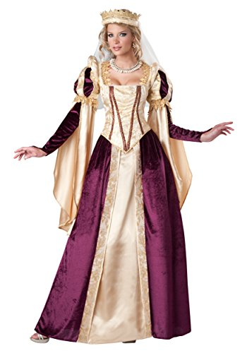 InCharacter Costumes Women's Renaissance Princess Costume, Gold/Red, Large
