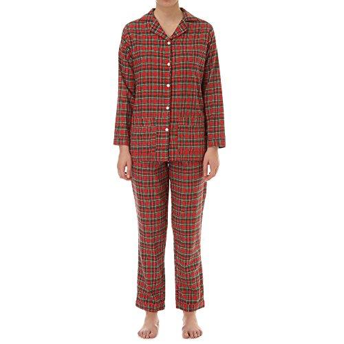 lady-law-lucy-woman-pigiama-cotone-s-it-donna-rosso-scozzese