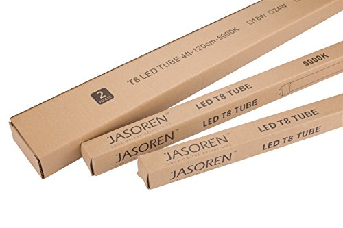Jasoren LED Tube T8 4ft Daylight 18W 2-pack Frosted