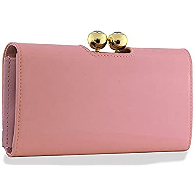 Genuine LYDC / KUKUBIRD GROSSY Metallic PVC Shiny Crystal Bubble matinee Ladies wallet, purse (Light Pink) - more-bags