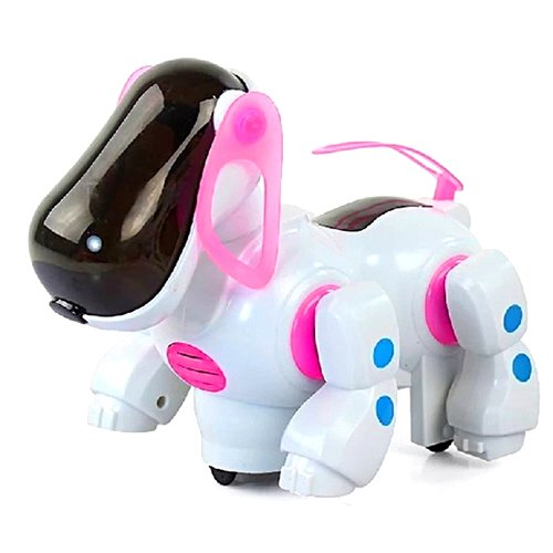 Baby Kids Music Universal Machine Electric Dog Interactive Puppy With Light Educational Toy Gift (Pink)