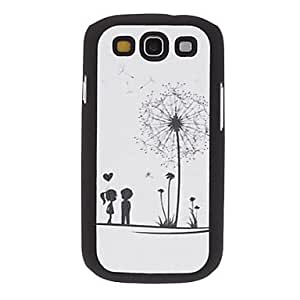 Love Under the Dandelion Pattern PU Leather Hard Case for Samsung Galaxy S3 I9300